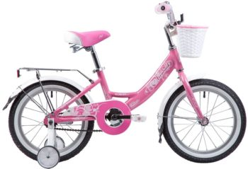 """134089 2 350x239 - Велосипед NOVATRACK GIRLISH, Детский, р. 10,5"""", колеса 16"""", цвет Розовый, 2020г."""