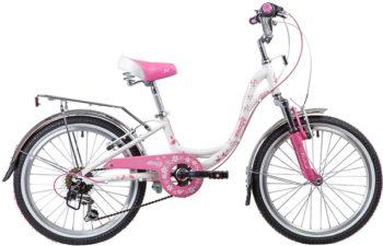 """134096 2 350x225 - Велосипед NOVATRACK BUTTERFLY, Скоростной, р. 11"""", колеса 20"""", цвет Розовый, 2020г."""
