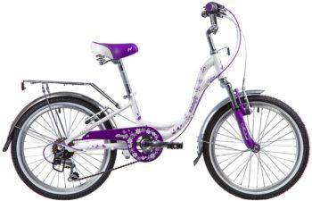 """134097 2 350x225 - Велосипед NOVATRACK BUTTERFLY, Скоростной, р. 11"""", колеса 20"""", цвет Фиолетовый, 2020г."""