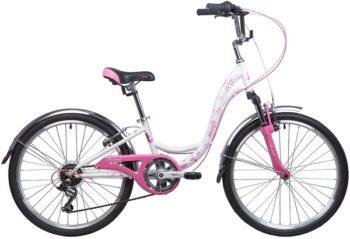 """134098 2 350x239 - Велосипед NOVATRACK BUTTERFLY, Скоростной, р. 13"""", колеса 24"""", цвет Розовый, 2020г."""