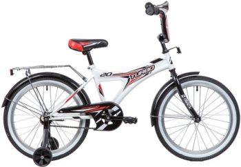 """134102 2 350x242 - Велосипед NOVATRACK TURBO, Детский, р. 12"""", колеса 20"""", цвет Белый, 2020г."""