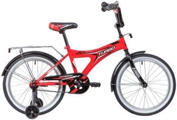 """134103 2 350x237 - Велосипед NOVATRACK TURBO, Детский, р. 12"""", колеса 20"""", цвет Красный, 2020г."""