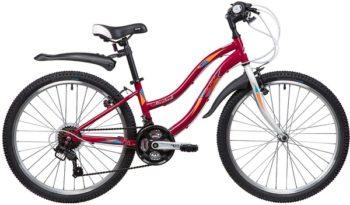 """134105 2 350x205 - Велосипед NOVATRACK LADY, Скоростной, р. 12"""", колеса 24"""", цвет Красный, 2020г."""