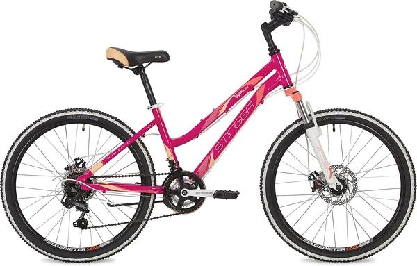 """134167 2 - Велосипед Stinger Laguna D, р.14, цвет Розовый, 2019г., колеса 24"""""""