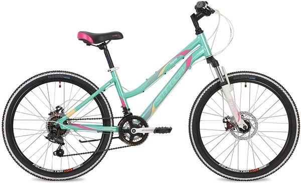 """135084 2 - Велосипед Stinger Laguna D, р.12, цвет Зеленый, 2019г., колеса 24"""""""