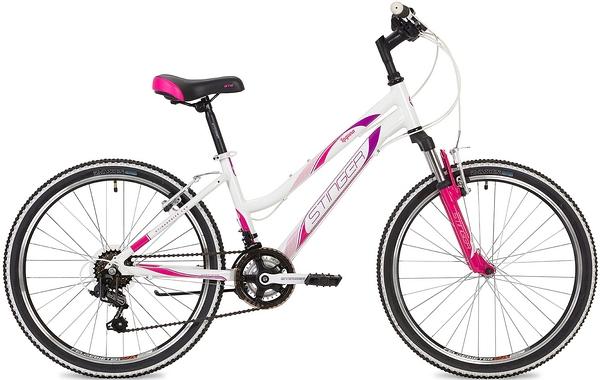 """135087 2 - Велосипед Stinger Laguna, р.12, цвет Белый, 2019г., колеса 24"""""""