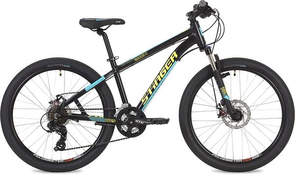 """135115 2 - Велосипед Stinger Boxxer Evo, р.14, цвет чёрный, 2019г., колеса 24"""""""