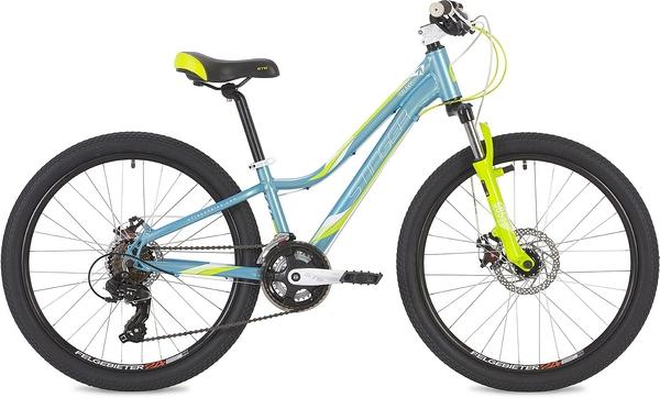 "135117 2 - Велосипед Stinger Galaxy Evo, р.11, цвет Синий, 2019г., колеса 24"""