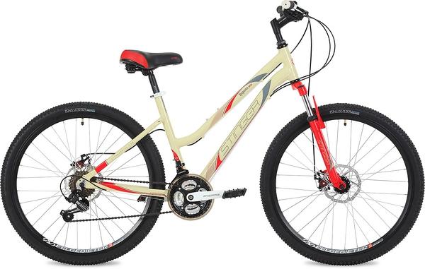 "135129 2 - Велосипед Stinger Laguna D, р.17, цвет Бежевый, 2019г., колеса 26"""