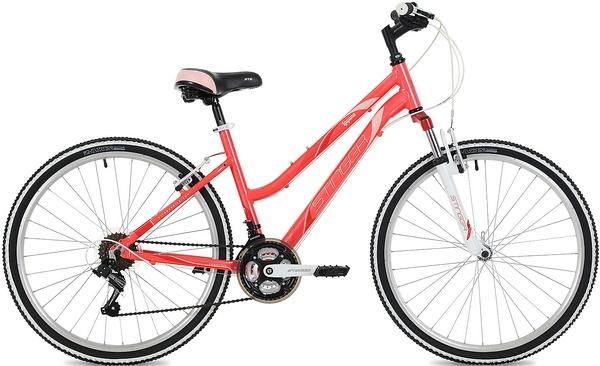 """135130 2 - Велосипед Stinger Laguna, р.17, цвет Розовый, 2019г., колеса 26"""""""