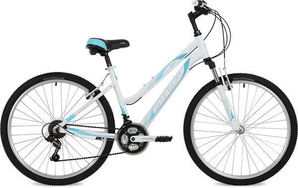 """135133 2 - Велосипед Stinger Laguna, р.15, цвет Белый, 2019г., колеса 26"""""""
