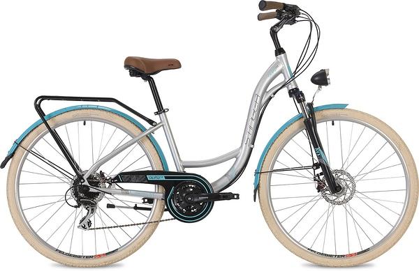 "135136 2 - Велосипед Stinger Calipso Evo, р.15, цвет Серый, 2019г., колеса 28"""