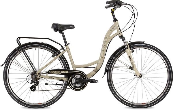 "135137 2 - Велосипед Stinger Calipso Std, р.15, цвет Бежевый, 2019г., колеса 28"""
