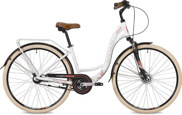 """135138 2 - Велосипед Stinger Barcelona Evo, р.17, цвет Белый, 2019г., колеса 28"""""""