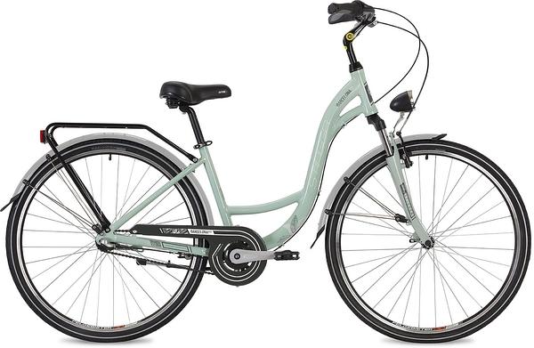 """135140 2 - Велосипед Stinger Barcelona Std, р.15, цвет Зеленый, 2019г., колеса 28"""""""