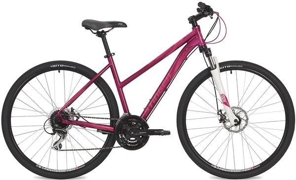 "135141 2 - Велосипед Stinger Liberty Evo, р.48, цвет Розовый, 2019г., колеса 28"""