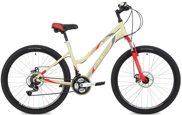 "135273 2 - Велосипед Stinger Laguna D, р.19, цвет Бежевый, 2019г., колеса 26"""