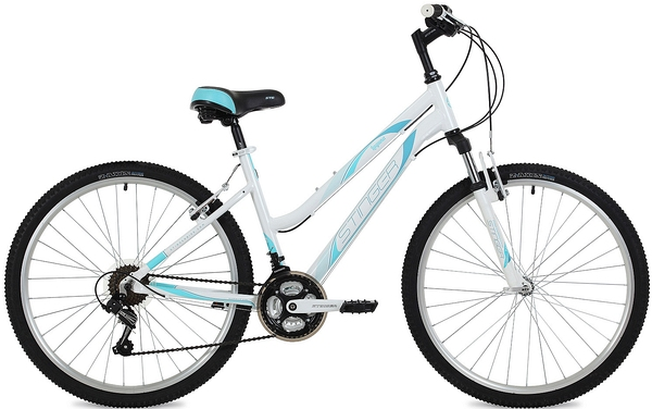 """135275 2 - Велосипед Stinger Laguna, р.17, цвет Белый, 2019г., колеса 26"""""""