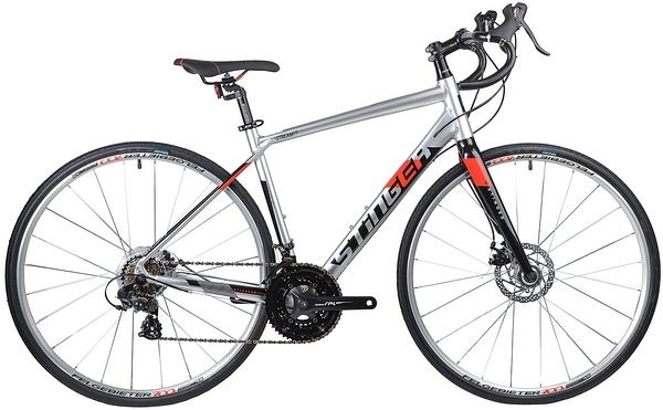135283 2 - Велосипед Stinger Stream Std, р.54, цвет Серебряный, 2019г., колеса 700х32с