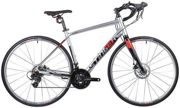 135284 2 - Велосипед Stinger Stream Std, р.56, цвет Серебряный, 2019г., колеса 700х32с