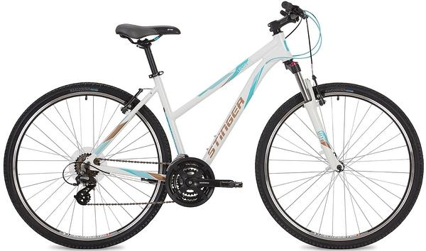 """135287 2 - Велосипед Stinger Liberty Std, р.52, цвет Белый, 2019г., колеса 28"""""""