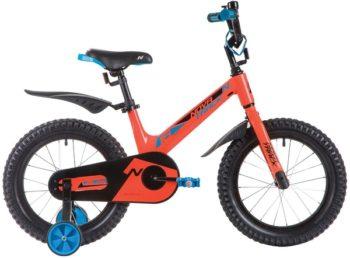 """135363 2 350x258 - Велосипед NOVATRACK BLAST, Детский, р. 10,5"""", колеса 16"""", цвет Оранжевый, 2020г."""