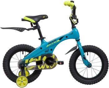 """135366 2 350x282 - Велосипед NOVATRACK BLAST, Детский, р. 9"""", колеса 14"""", цвет Бирюза неоновый, 2020г."""