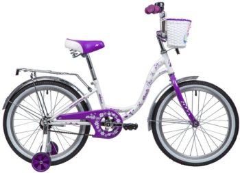 """135368 2 350x253 - Велосипед NOVATRACK BUTTERFLY, Детский, р. 12"""", колеса 20"""", цвет Фиолетовый, 2020г."""