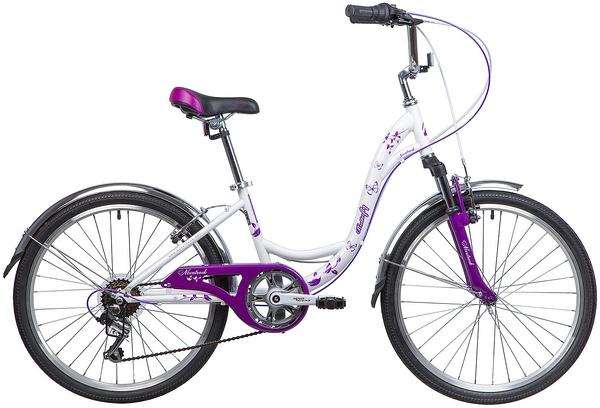 """137223 2 - Велосипед NOVATRACK BUTTERFLY, Скоростной, р. 13"""", колеса 24"""", цвет Фиолетовый, 2020г."""