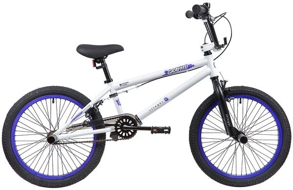 """137351 2 - Велосипед Stinger BMX GRAFFITI, р.10, цвет Белый, 2019г., колеса 20"""""""