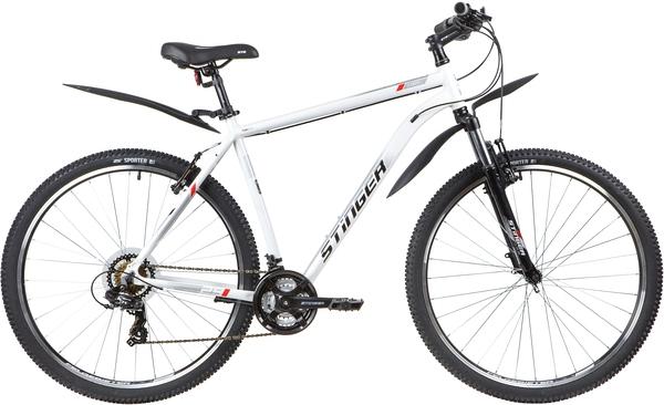 """137771 2 - Велосипед Stinger ELEMENT STD, р.22, цвет Белый, 2020г., колеса 29"""""""