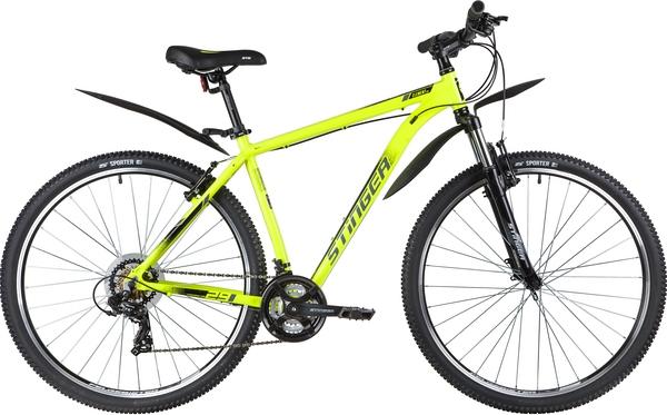 """137773 2 - Велосипед Stinger ELEMENT STD, р.20, цвет Зеленый, 2020г., колеса 29"""""""