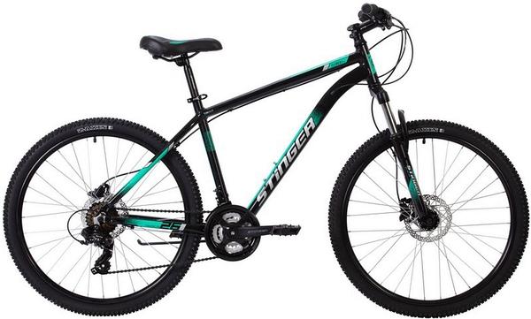 """137779 2 - Велосипед Stinger ELEMENT PRO, р.20, цвет Зеленый, 2020г., колеса 27"""""""