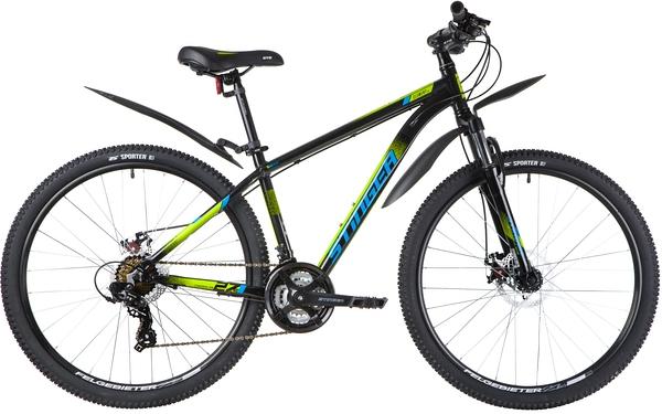"""137784 2 - Велосипед Stinger ELEMENT EVO, р.16, цвет чёрный, 2020г., колеса 27"""""""