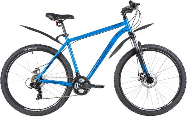 """137789 2 - Велосипед Stinger ELEMENT EVO, р.20, цвет Синий, 2020г., колеса 27"""""""