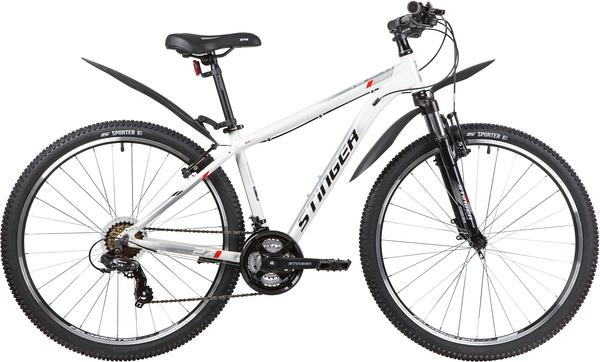 """137796 2 - Велосипед Stinger ELEMENT STD, р.16, цвет Белый, 2020г., колеса 27"""""""