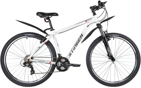 """137797 2 - Велосипед Stinger ELEMENT STD, р.18, цвет Белый, 2020г., колеса 27"""""""