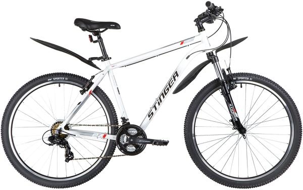 """137798 2 - Велосипед Stinger ELEMENT STD, р.20, цвет Белый, 2020г., колеса 27"""""""