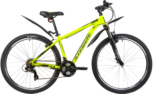 """137800 2 - Велосипед Stinger ELEMENT STD, р.18, цвет Зеленый, 2020г., колеса 27"""""""