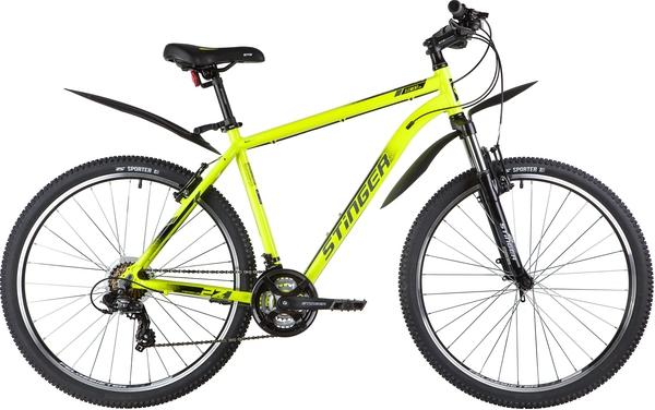 """137801 2 - Велосипед Stinger ELEMENT STD, р.20, цвет Зеленый, 2020г., колеса 27"""""""