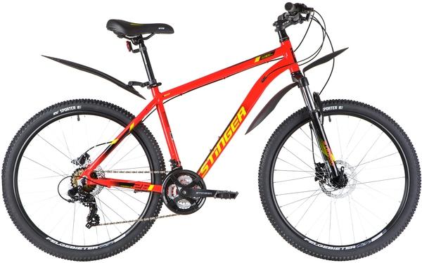 """137810 2 - Велосипед Stinger ELEMENT PRO, р.16, цвет Красный, 2020г., колеса 27"""""""