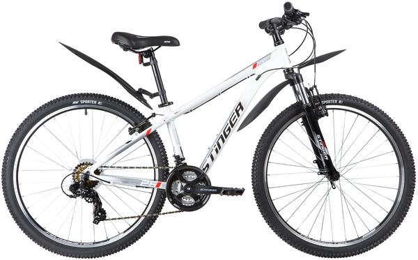 """137823 2 - Велосипед Stinger ELEMENT STD, р.14, цвет Белый, 2020г., колеса 26"""""""