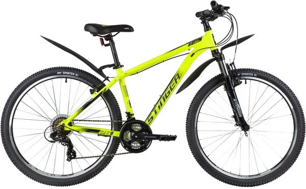 """137828 2 - Велосипед Stinger ELEMENT STD, р.18, цвет Зеленый, 2020г., колеса 26"""""""