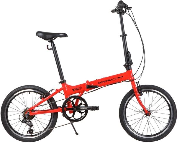 """139207 2 - Велосипед NOVATRACK TG6, Складной, р. 12,5"""", колеса 20"""", цвет Красный, 2020г."""