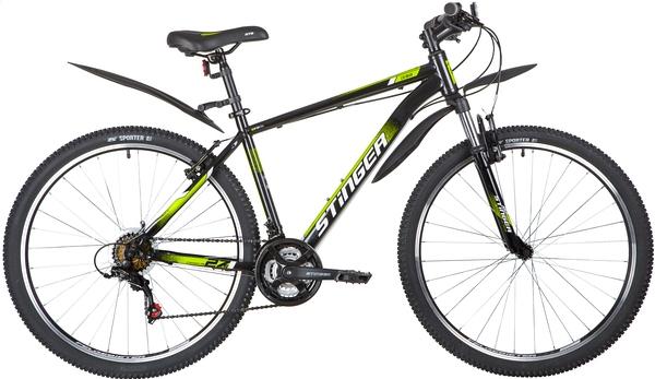 """139610 2 - Велосипед Stinger CAIMAN, р.18, цвет чёрный, 2020г., колеса 27"""""""