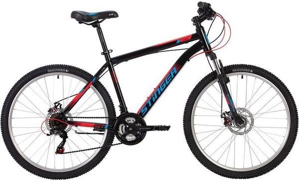 """139611 2 - Велосипед Stinger CAIMAN D, р.18, цвет чёрный, 2020г., колеса 26"""""""