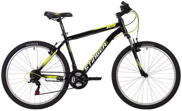 """139612 2 - Велосипед Stinger CAIMAN, р.18, цвет чёрный, 2020г., колеса 26"""""""