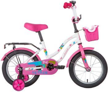 """139615 2 350x299 - Велосипед NOVATRACK TETRIS, Детский, р. 9"""", колеса 14"""", цвет Белый, 2020г."""