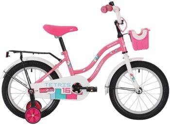 """139616 2 350x258 - Велосипед NOVATRACK TETRIS, Детский, р. 9"""", колеса 14"""", цвет Розовый, 2020г."""