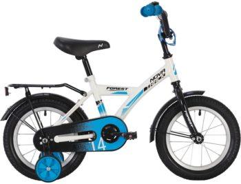 """139618 2 350x267 - Велосипед NOVATRACK FOREST, Детский, р. 9"""", колеса 14"""", цвет Белый, 2020г."""